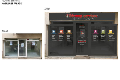 FECAMP SERVICE-habillage vitrine
