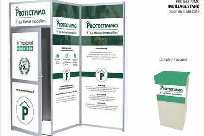 HABILLAGE STAND SALON pour Protectimo