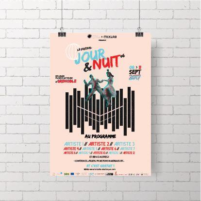 Affiche pour le festival Jour&Nuit #6