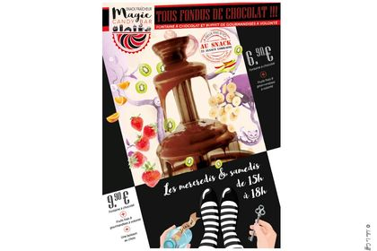 Supports papier - Fontaine chocolat