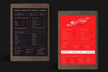 Maxine's - Charte graphique et menus