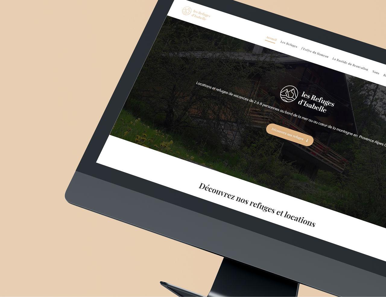 Les Refuges d'Isabelle - Création de site internet