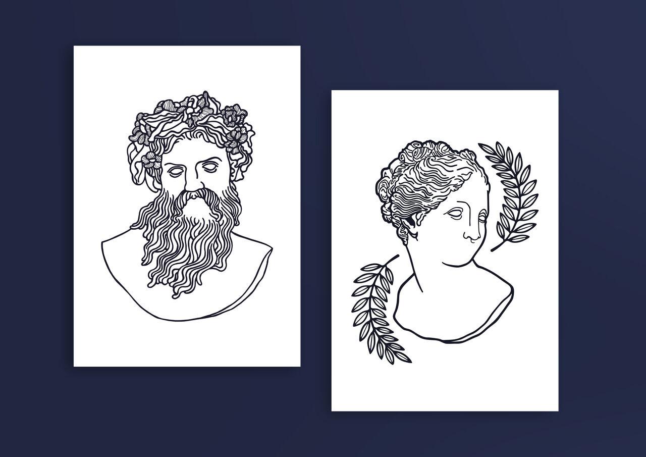 Mythologia - Duo d'illustrations