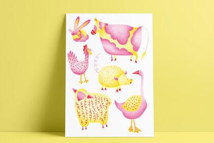 Illustration - Les animaux de la ferme