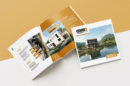 Maisons Oxéo - Brochure carré avec rabat