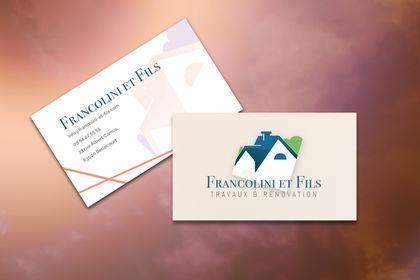 Carte de visite Francolini et Fils