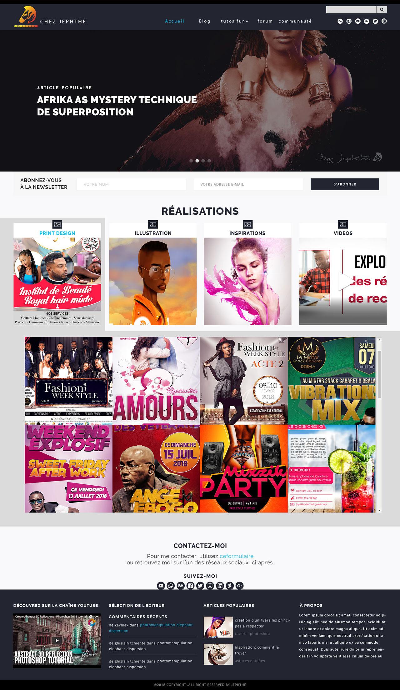 Maquete Site Web