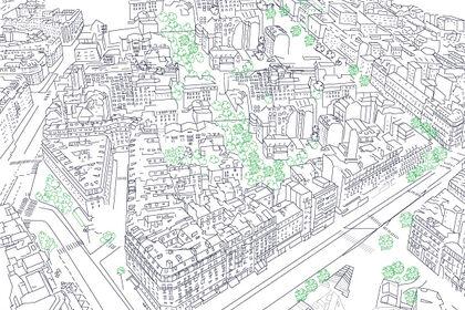 Illustration paysage parisien