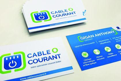 Carte de visite Cable O Courant