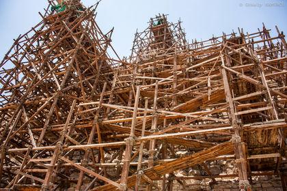 Pyramide en travaux