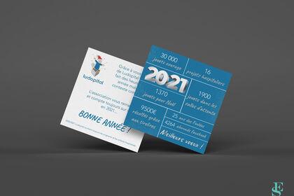 Carte de vœux 2021 de l'association Ludopital