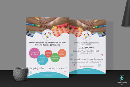 Flyer Association Actions solidaires pour enfants