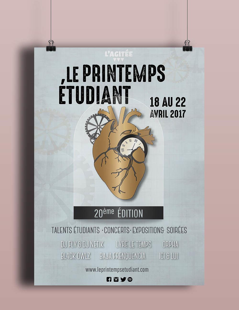 Affiche Le Printemps étudiant