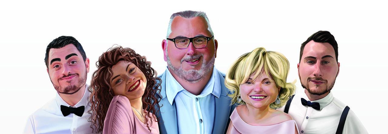 Portrait de famille Cartoon