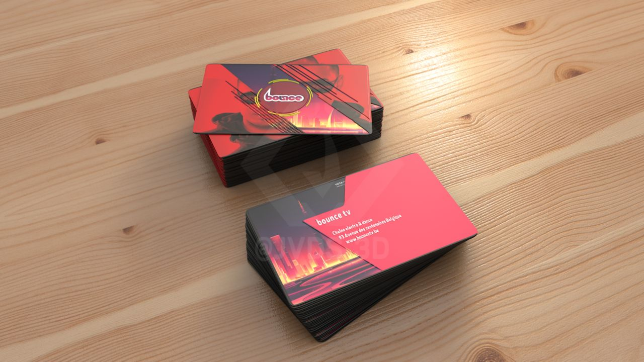 Bounce - Business Card Mockup 1