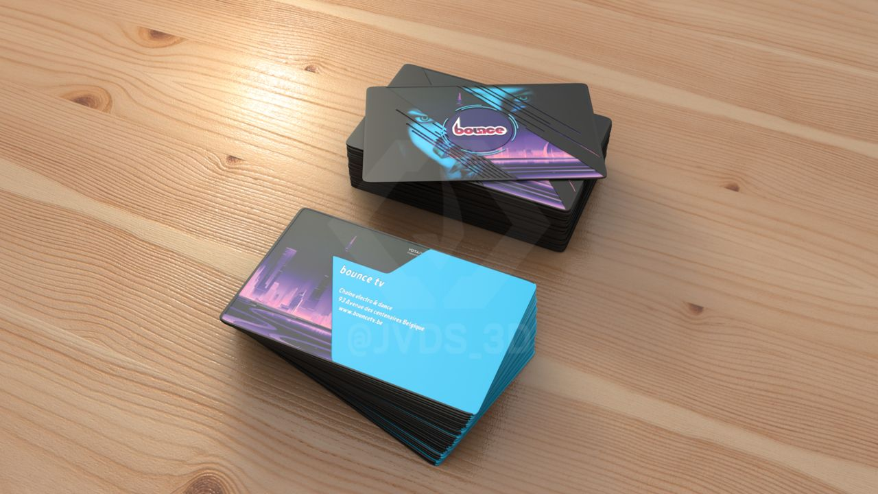 Bounce - Business Card Mockup 2