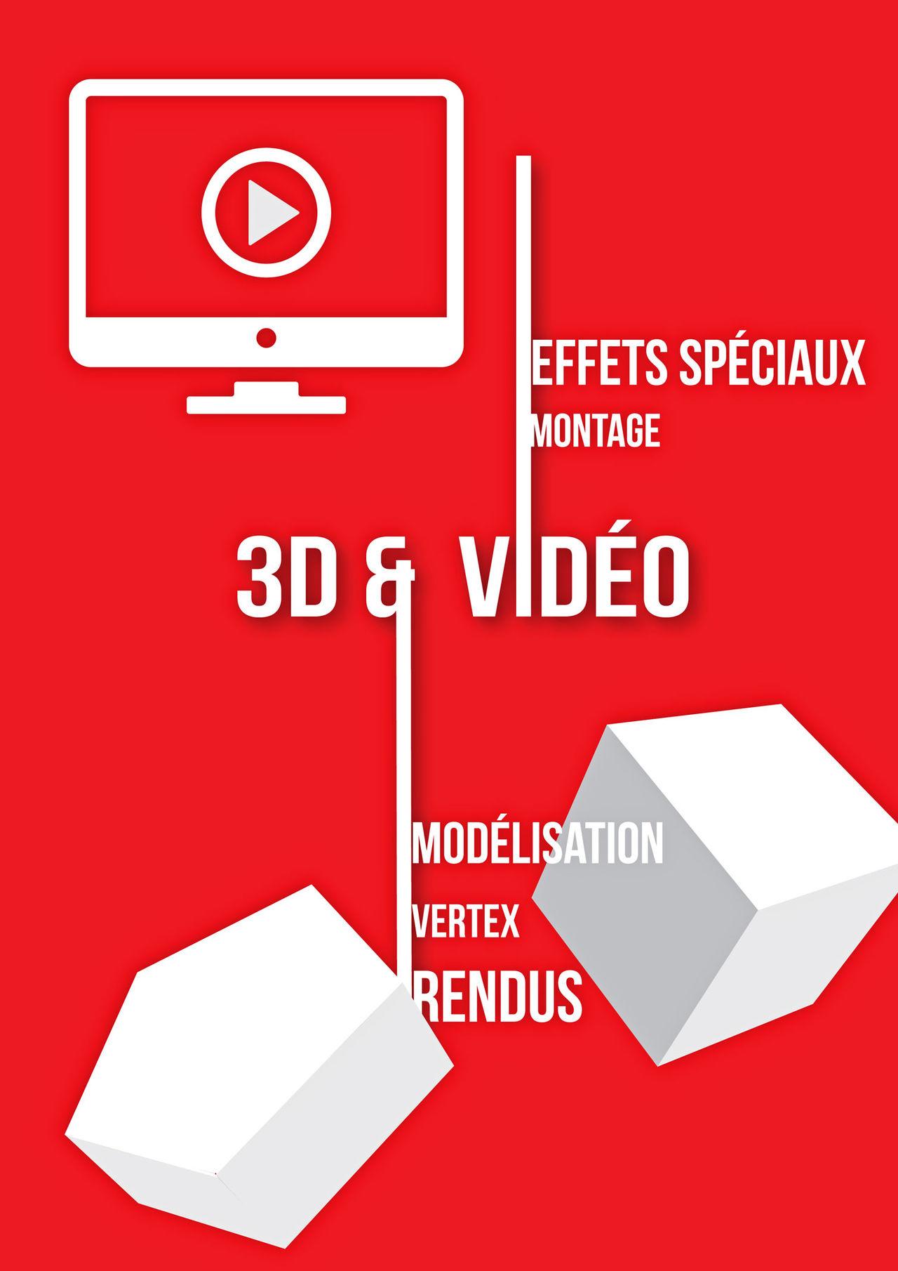 Affiche scolaire Section 3D/Vidéo