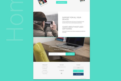 Site internet flat design
