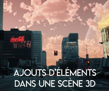 Ajouts d'éléments dans une scène 3D