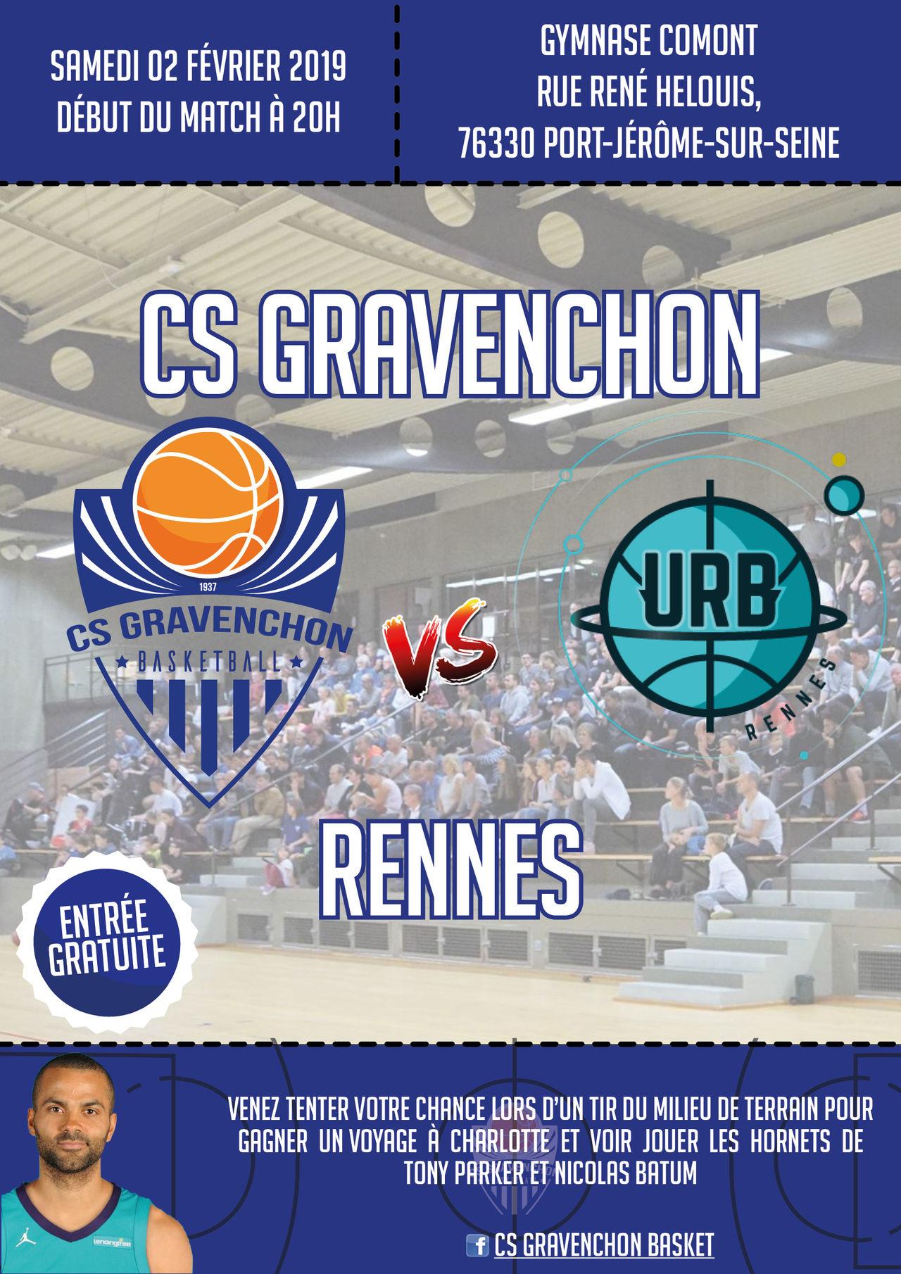 Affiche CS Gravenchon Basket