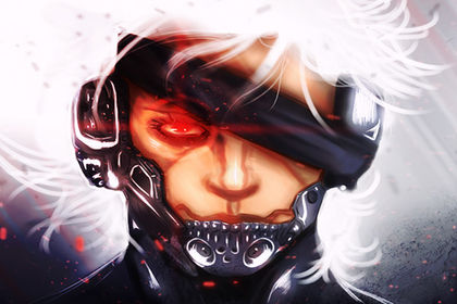 "Illustration personnel : Raiden de ""Metal Gear""."