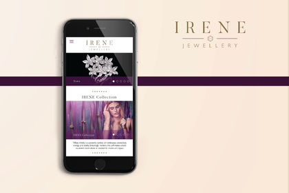 Irene jewellery webdesign