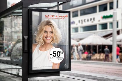 Affichage Abri Bus Saint Algue