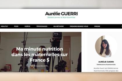 Site internet - Aurélien Guerri Diététicienne