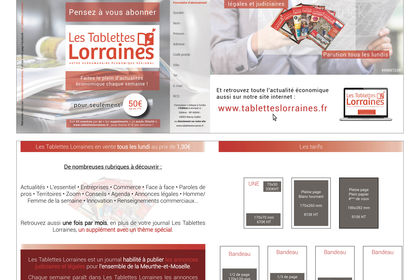 Plaquette Tablettes Lorraines