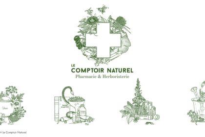 Identité visuelle Le Comptoir Naturel