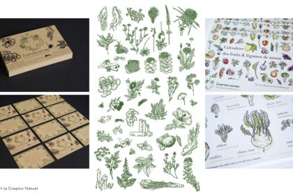 Papeterie, illustrations Le Comptoir Naturel