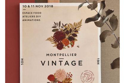 Affiche Montpellier Vintage