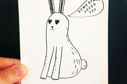 Some bunny loves you - illustration