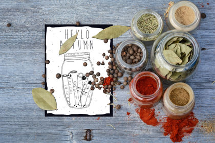 Hello autumn - carte postale