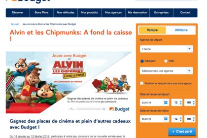 Campagne ALVIN ET LES CHIPMUNCK