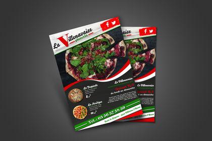 Création Flyer Pizzeria