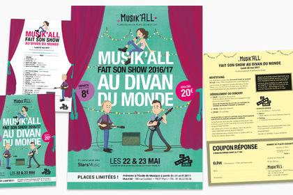 Affiche et flyers concert Muski'All