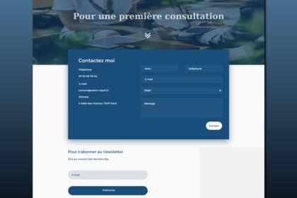 Modèle de page de formulaire de contact