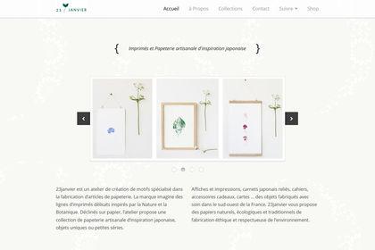 Design web + direction artistique : 23janvier
