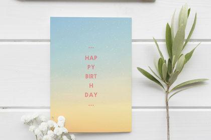 Design graphique : Carte d'anniversaire