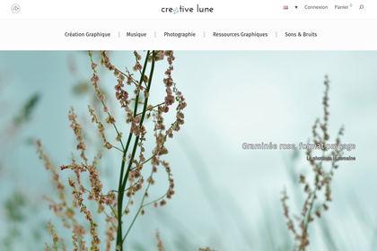Web design + direction artistique : Creative Lune