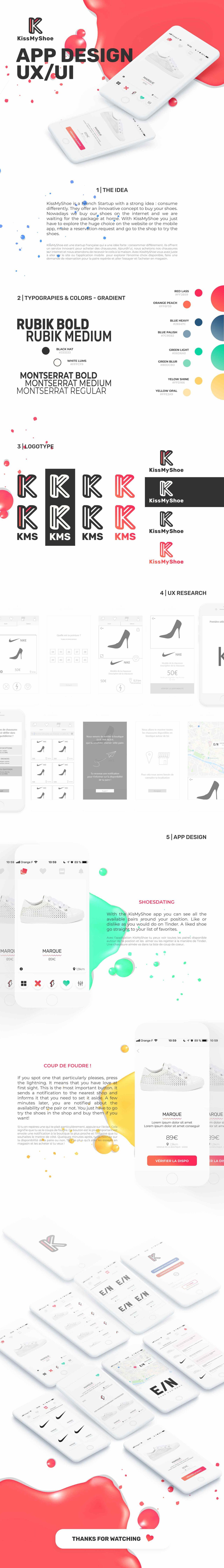 UX / UI Design - KissMyShoe