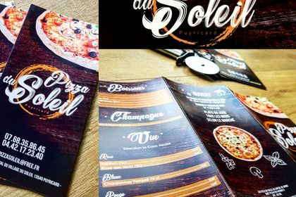 Logo et Plaquette Pizzeria
