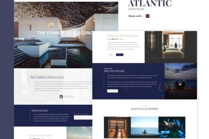 UX UI - Luxury hotel ATLANTIC