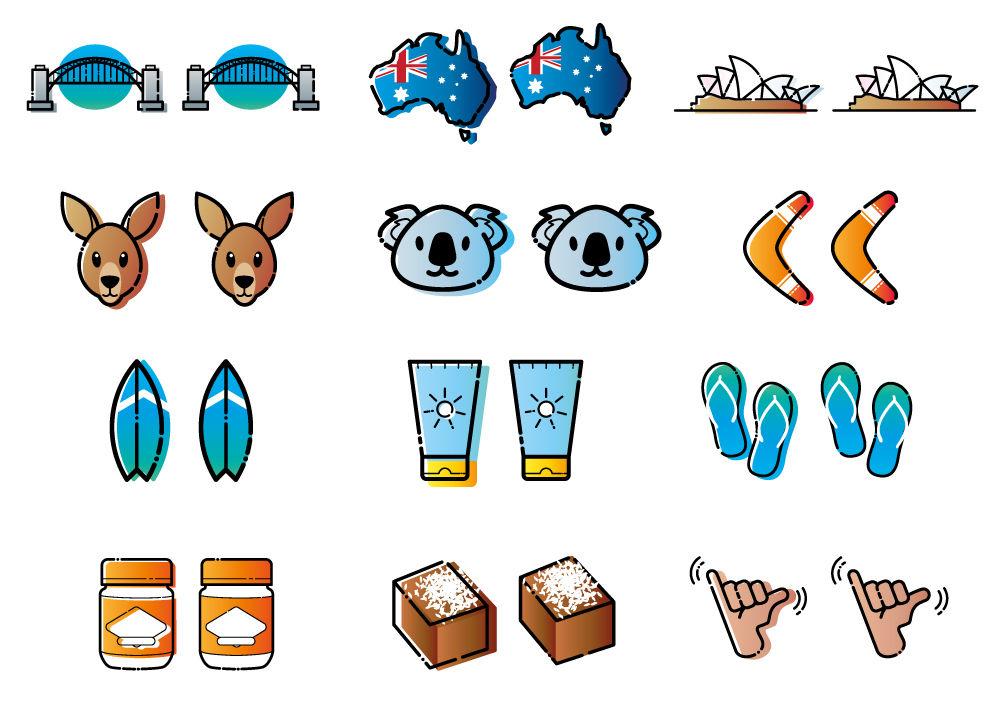 Pack d'icône Australie / Sydney