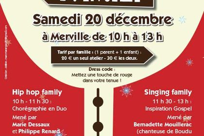 Affiche Hip  Hop and singinf Family