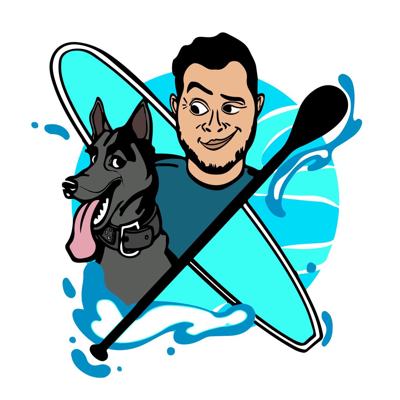 Le Cani-Paddler × The French Dog-Paddler