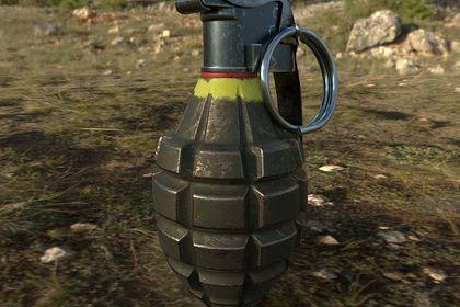 Rendu 3D photoréaliste d'une grenade