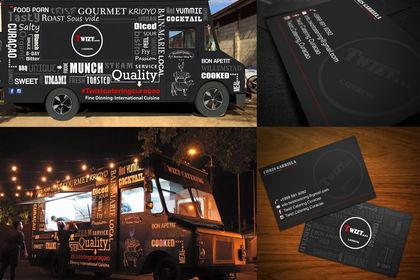 Cartes de visite et habillage camion restaurant