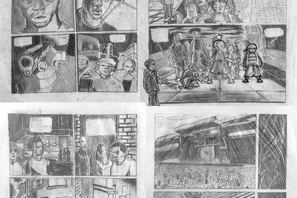 Illustrations sur papier.